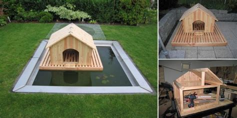 diy duck house plans how to build a floating duck house total survival