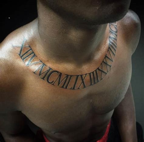 numeral chest tattoo 36 exquisite roman numeral tattoo designs tattooblend
