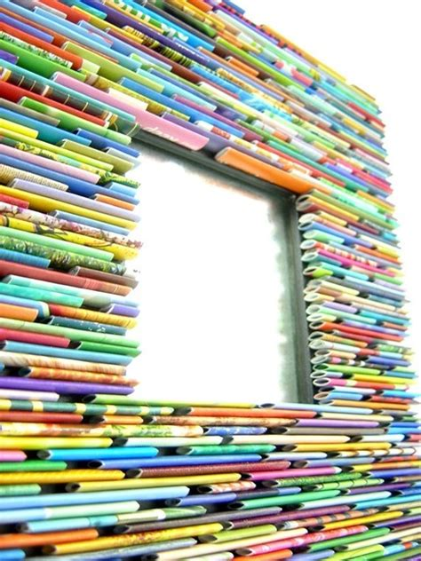 upcycle magazines upcycled magazine mirror by colorstorydesigns eclectic