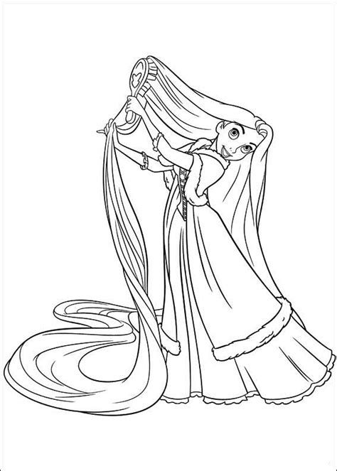 coloring book tangled and frozen for ages 4 10 books princesas disney dibujos para colorear de quot rapunzel