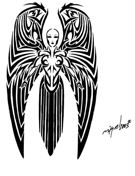 tribal angel tattoo tattoos and designs page 22