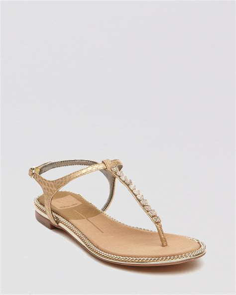 t sandals dolce vita flat sandals ensley studded t in
