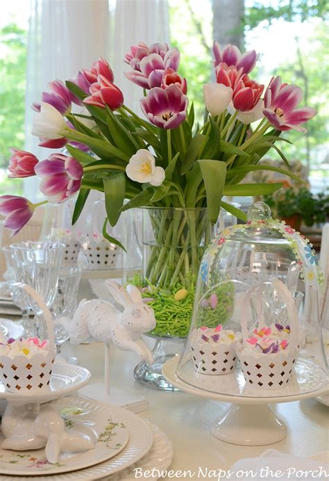 spring table settings easter tulip centerpiece in pottery barn knock off double