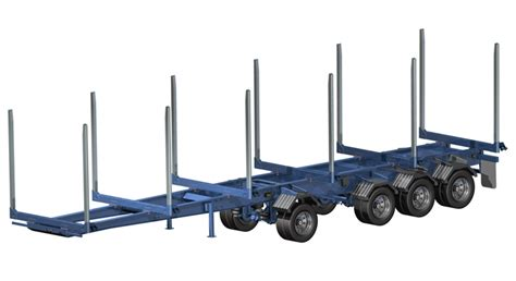 Hay Rack Log Trailer by Arctic Manufacturing Ltd