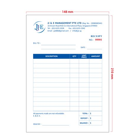 100 mm receipt template for use with receipt printer invoice receipt book a5 100 books jj e