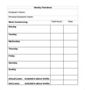 Easy Timesheet Template by 22 Simple Timesheet Templates Free Sle Exle