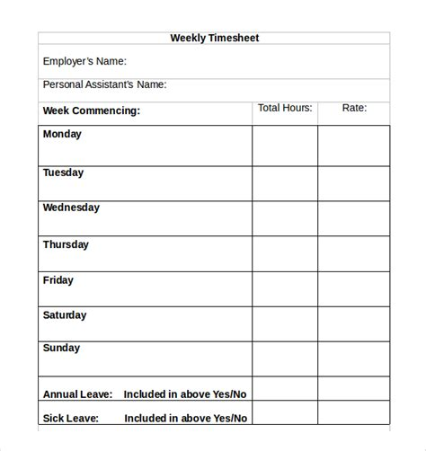 32 simple timesheet templates free sle exle