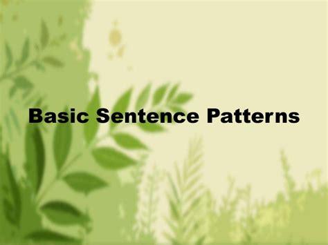 sentence pattern changer basic sentence patterns weeheey