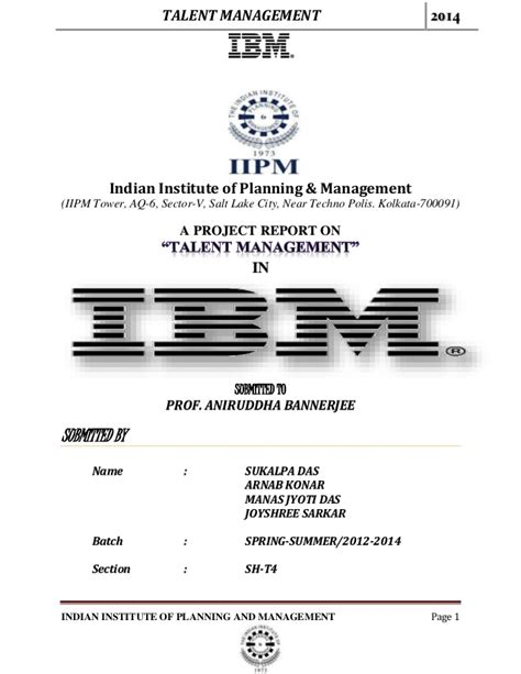 talent management  ibm
