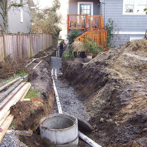 water pipe burst in front yard construction process lanefab design build