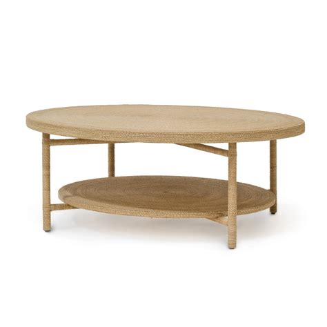 Round Braided Seagrass Coffee Table Mecox Gardens Seagrass Coffee Table