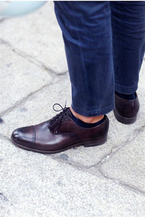 dress shoes no socks i friends who do this and i m officially a