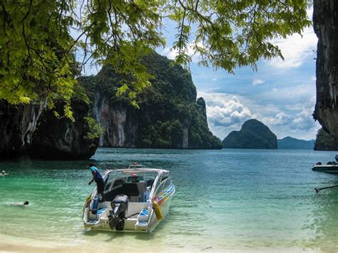 speed boat activity hong island tour by speed boat thailand krabi water