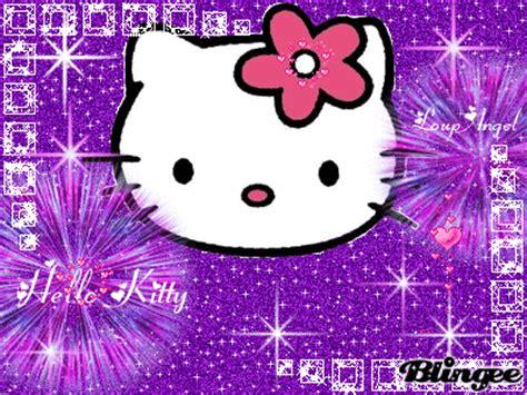 Wallpaper Hello Kitty Gif | hello kitty purple picture 94413227 blingee com