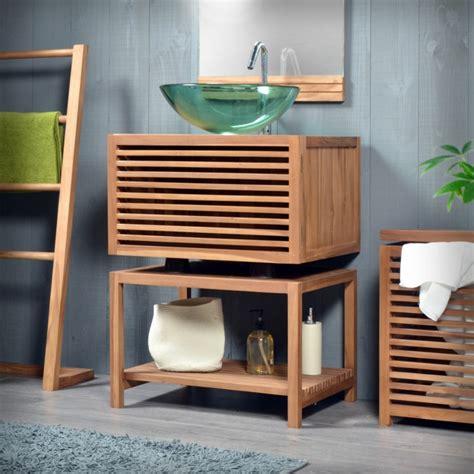 Délicieux Meuble De Salle De Bain Moderne #3: waschtisch-holz-moderne-badezimmer-ideen-holzmöbel-glas-waschbecken.jpg