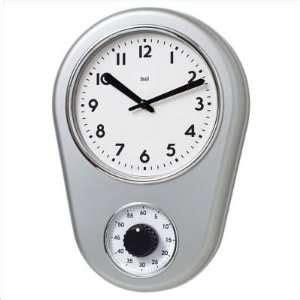 retro kitchen timer modern wall clock checkered