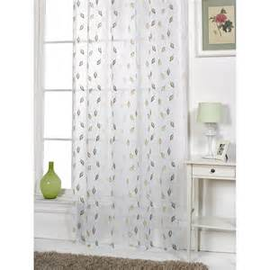 Patterned Window Curtains Epping Leaf Patterned Modern Ready Made Voile Panel Window Curtains Ebay