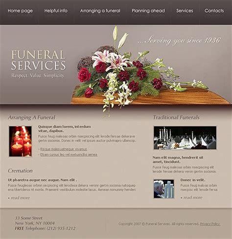 viscom design brief template funeral services website template 15305