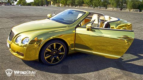 golden bentley wrapstyle premium car wrap car dubai chrome