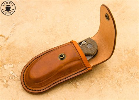 leather knife pouches cuscadi benchmade griptillian knife with custom leather pouch