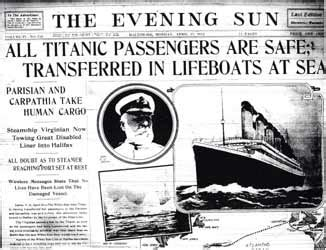 Magazine News Of The Evening by Titanic Sinks 1 500 Lost At Today In History