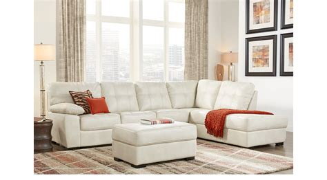 bexley square cream  pc sectional living room