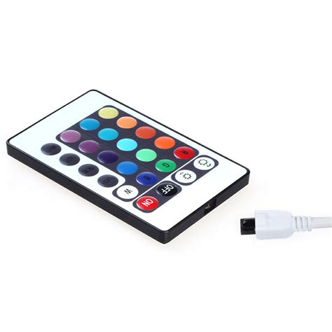 Led Light Strips With Remote 24 Key Mini Ir Remote Controller For Rgb 3528 5050 Led Light Ls 12v 6a In Led Strips