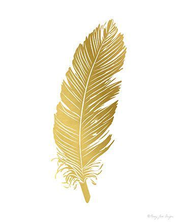 feather tattoo gold featherprint feather art print printable feather gold