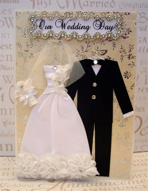 Handmade Greeting Cards For Wedding - personalized wedding dress card c5 size