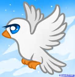 How to draw a dove for kids step by step animals for kids for kids