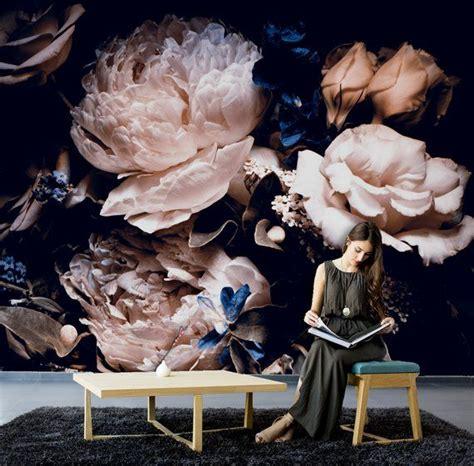peony bloem behang zelf klevende wand decor zwart wit