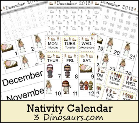 Nativity Card Template Word by Nativity Set Print Outs New Calendar Template Site