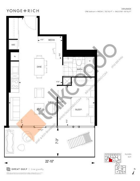 18 yonge floor plans yonge rich condos talkcondo