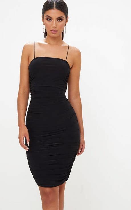 tight mini black dress