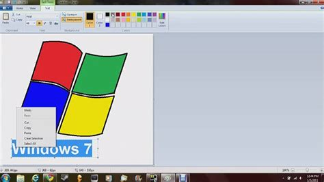painting for windows 7 me drawing the windows 7 logo in ms paint
