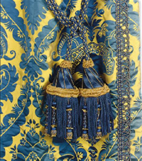 Blue And Gold Valance A Selection Of Royal Blue And Gold Silk Damask Curtains