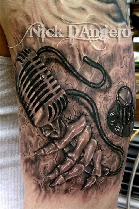 microphone tattoo on hand pin by phyllis halstead on tattoos pinterest