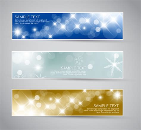 hairstyle banner design shiny christmas style banner design vector 05 free download