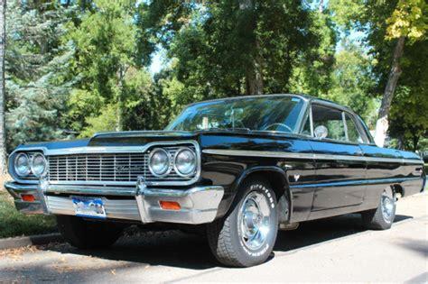 silver 64 impala 64 1964 chevrolet chevy impala ss 409 ht black silver