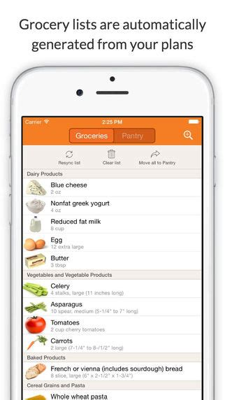 best free meal planner app iphone app meal planner and shopping list
