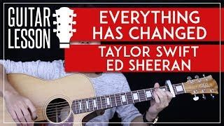 Tutorial Guitar Everything Has Changed   taylor swift and ed sheeran make money from home speed