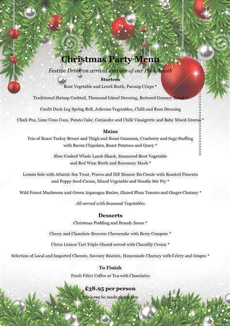 best 28 office christmas menu personalised table menu