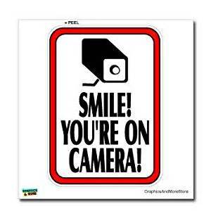 Luxury Wall Stickers smile you re on camera video surveillance business sign
