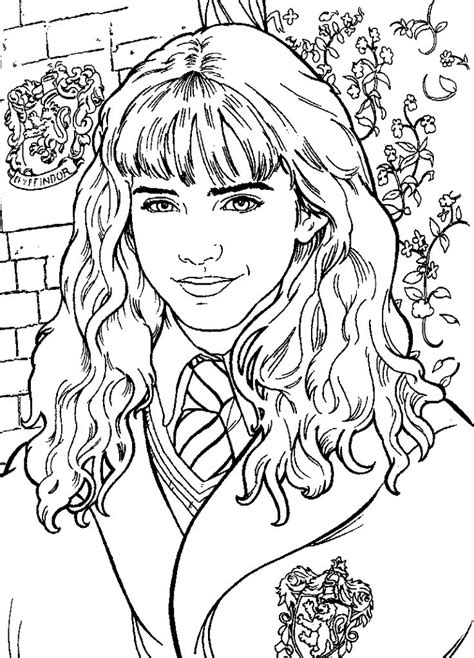 hermione granger harry potter coloring pages harry