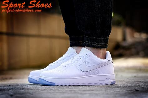 2016 air 1 flyknit low all white casual shoes