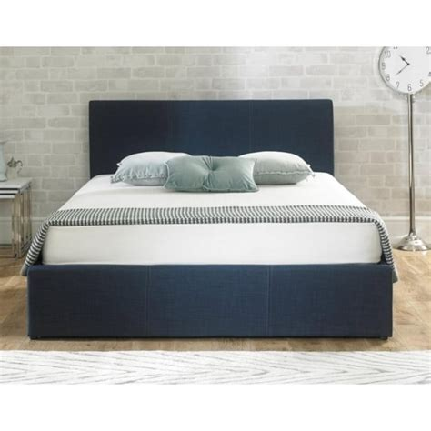 fabric ottoman storage bed discounted stirling blue fabric 5ft king size ottoman