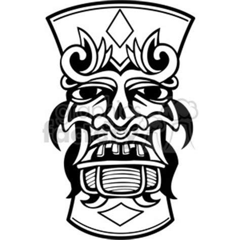 Kahuna White Tribal royalty free tiki design 385814 vector clip image eps svg ai pdf illustration