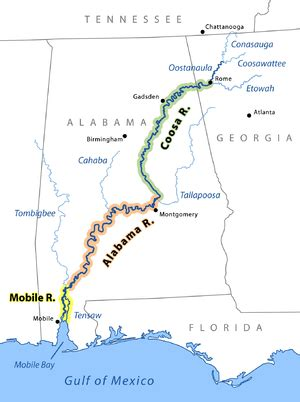 coosa river map coosa river