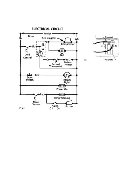 wiring diagrams for freezer wiring diagram with description