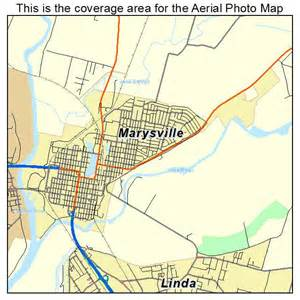 aerial photography map of marysville ca california